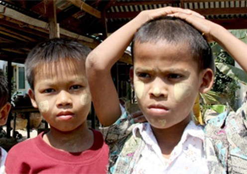 No one knows exactly how many children like these were orphaned by the cyclone.
