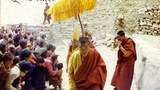 Geshe Sonam Phuntsok with Buddhist devotees in Kardze, 1998.