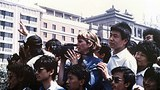 Muriel Southerland shooting video of demonstrators northeast of the Square near the Beijing Hotel, early May 1989.