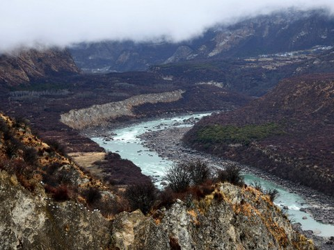 The Yarlung Zangbo Grand Canyon in Nyingchi city, in China's western Tibet Autonomous Region, March 28, 2021.