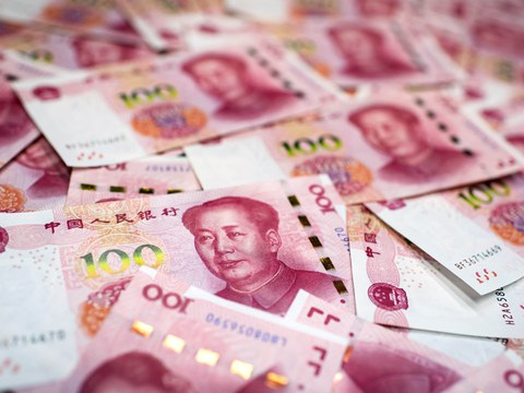 Chinese 100 yuan notes are shown in a Jan. 14, 2020 photo.