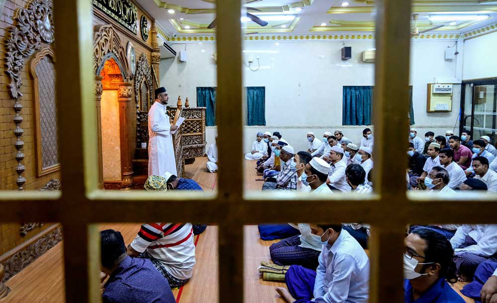 The Eid observance this year was low key compared to those in the past. (RFA)