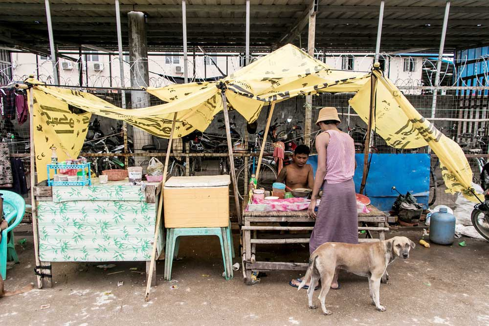Street food vendors say price increases have meant many would-be customers cannot afford even simple meals. (AFP)