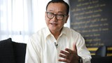 Self-exiled Cambodian opposition party founder Sam Rainsy speaks during an interview with Reuters at a hotel in Kuala Lumpur, Malaysia, November 10, 2019.