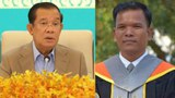 Hun Sen (left) and Thailand-based exile academic Seng Sary (right).