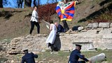 Tibetan, Hong Kong activists detained by Greek police after Acropolis Olympics protest