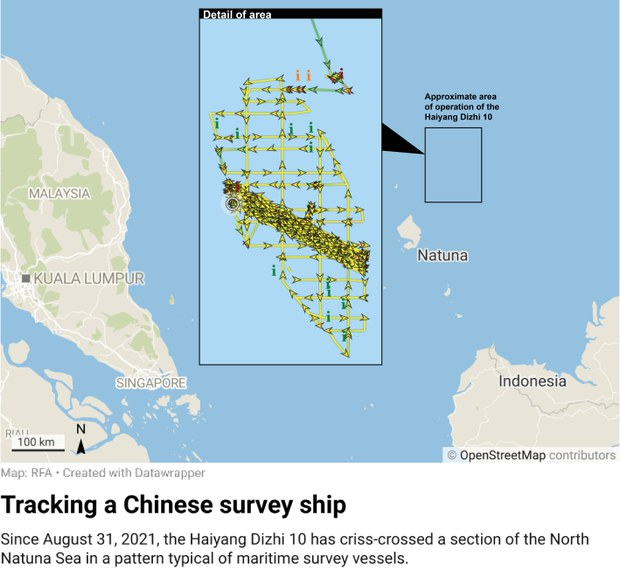 China Survey Ship Lingering in EEZ Poses Dilemma for Indonesia