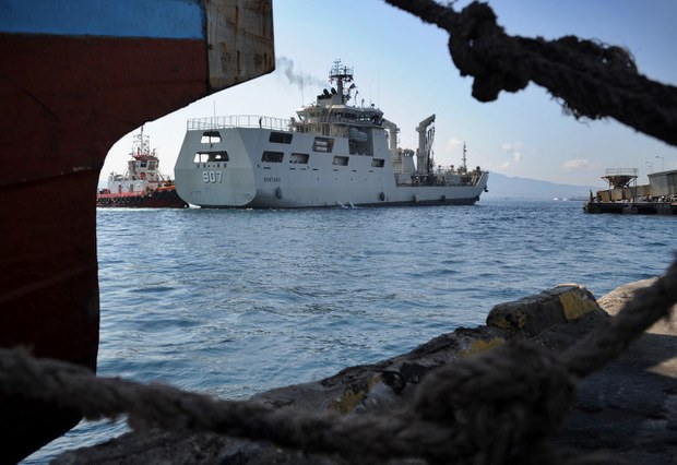 Indonesia Sends Navy Ship to Tail Chinese Survey Ship, Data Show