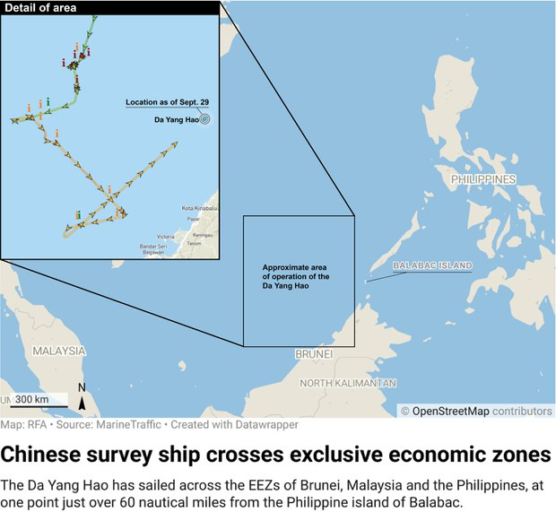 Malaysia Calls in China Ambassador To Protest Ships in its EEZ