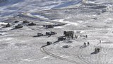 This undated handout photograph released by the Indian Army on February 16, 2021 shows People Liberation Army soldiers and tanks during military disengagement along the Line of Actual Control at the India-China border in Ladakh.
