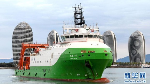 Chinese Research Ship Collects Samples, Tests Submersibles in Vietnam-Claimed Waters
