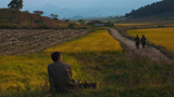 In a file photo, a North Korean man rests near a farm field along a highway outside the eastern coastal city of Wonsan, North Korea.