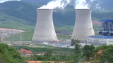 Photo of the Hongsa Lignite Power Plant in Xayaburi province, Laos, captured by RFA's Lao Service from a NewTV video in 2017.