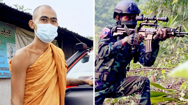 Buddhist Monk Takes up Arms Against The Myanmar Junta