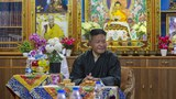 Penpa Tsering, the newly elected President of the Central Tibetan Administration, relaxes at the Ghadong monastery in Dharmsala, India, May 27, 2021.