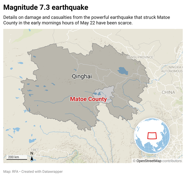 At Least 20 Dead, More Than 300 Injured in Qinghai Quake as China Imposes Information Lockdown