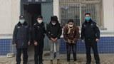 Tibetan students Gyuldrak and Yangrik are shown under arrest in Darlag county in Qinghai's Golog Tibetan Autonomous Prefecture, Aug. 24, 2021.
