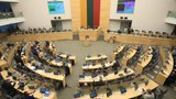 The Lithuanian Parliament is shown in session in a Dec. 11, 2020 photo.