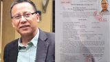 Vietnamese journalist Le Van Dung is shown next to the warrant calling for his arrest.
