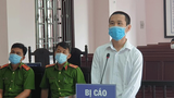 Dang Hoang Minh is shown at his trial in the Hau Giang People's Court, June 2, 2021.
